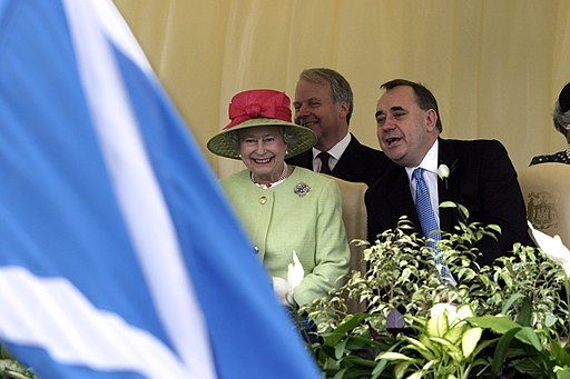 Queen Elizabeth and Alex Salmond