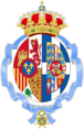 Queen Sofia of Spain Coat of arms (Order of Carlos III Collar's Badge Grade versión).png