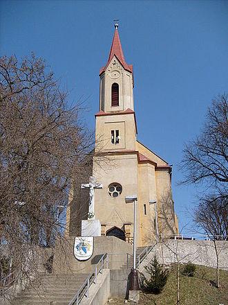 Abovce - Image: Római katolikus templom Abafalva