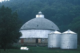 Round Barn, Millville Township United States historic place