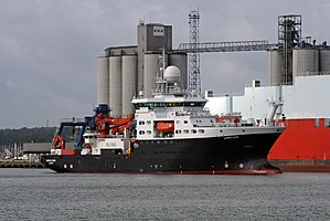 National Oceanography Centre - RRS James Cook returning to Southampton
