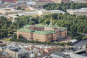Saint Michael's Castle - Image: RUS 2016 Aerial SPB St Michael's Castle 02