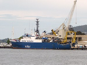 RV Southern Surveyor - Southern Surveyor alongside at Hobart in November 2010
