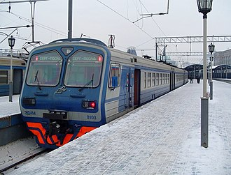 Multiple unit - Elektrichka on Yaroslavskiy Rail Terminal, Moscow