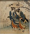 Rain at Gotenyama, by Keisai Eisen, Edo period, 1800s AD, print - Ishikawa Prefectural Museum of Traditional Arts and Crafts - Kanazawa, Japan - DSC09575.jpg