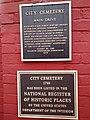 Raleigh City Cemetery plaque.jpg