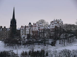 George Clark Stanton - Ramsay Lane (centre) seen from Princes Street