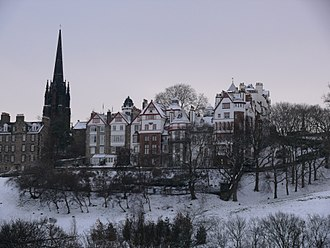 George Clark Stanton - Ramsay Lane (centre) seen from Princes Street
