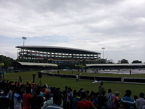 Dambulla - Rangiri Dambulla International Stadium in 2014 during ODI match