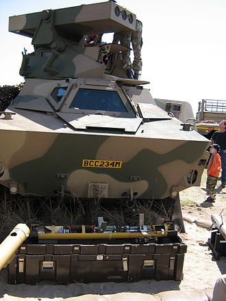 Missile turret - South African Ratel IFV with a missile turret for ZT3 Ingwe anti-tank guided missiles