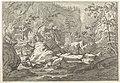 Ravijn met rotsblokken en bomen Landschappen in het Chartreuzer-gebergte (serietitel), RP-P-OB-52.749.jpg
