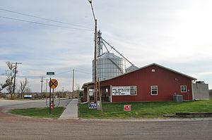 Reading, Kansas - Reading Community Center, Reading Café, Grain Elevator (replaced after tornado); October 2012.