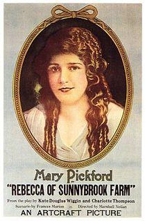<i>Rebecca of Sunnybrook Farm</i> (1917 film) 1917 film by Marshall Neilan