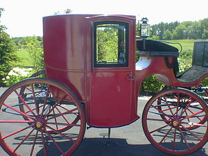 Brougham (carriage) - Image: Red Brougham Profile view