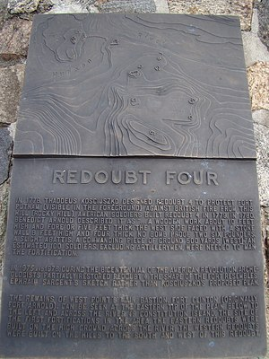 Redoubt Four (West Point) - Image: Redoubt Four, (West Point, NY) Info Plate