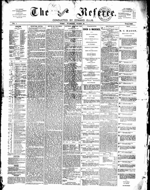 The Referee (newspaper) - Referee 20 October 1886