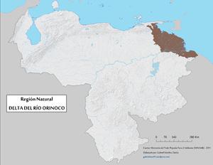 Orinoco Delta - Image: Region Natural Delta Orinoco