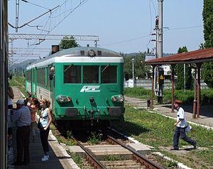 Regiotrans - a Regiotrans diesel unit in Dumbrăveni