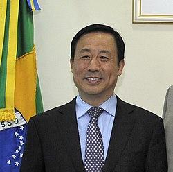 Reunião com o Ministro da Ciência e Tecnologia e Indústria de Defesa da China, Xu Dazhe. (17647090989) (cropped).jpg