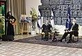 Reuven Rivlin hosting the «Zikaron BaSalon» event, April 2021 (GPOMN1 6985).jpg