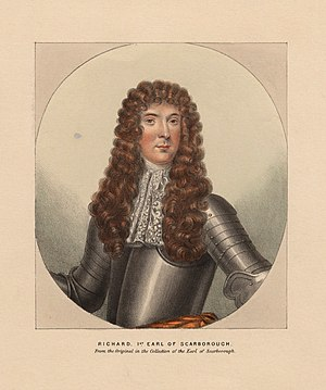 Carabiniers (6th Dragoon Guards) - Richard Lumley, 1st Earl of Scarbrough, the first Colonel of the regiment