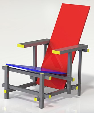 Modern furniture - Gerrit Rietveld's Red and Blue Chair