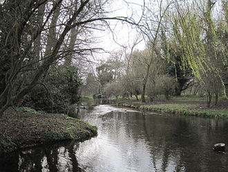 Foots Cray Meadows - Image: River Cray in Foots Cray Meadows