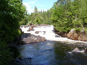 Chutes Croches dans le parc national du Mont-Tremblant