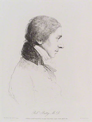 Robert Batty (physician) - Robert Batty (1810) by William Daniell