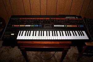 Roland Jupiter-8 - Image: Roland Jupiter 8 Synth, 1983 (2039658601)