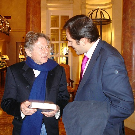 Polanski and Spanish writer Diego Moldes [es ], Madrid 2005 Roman-Polanski-y-Diego-Moldes,-Madrid,-.29.11.2005.jpg