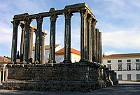 Roman temple in the city of �vora.