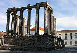 Evora Roman temple.