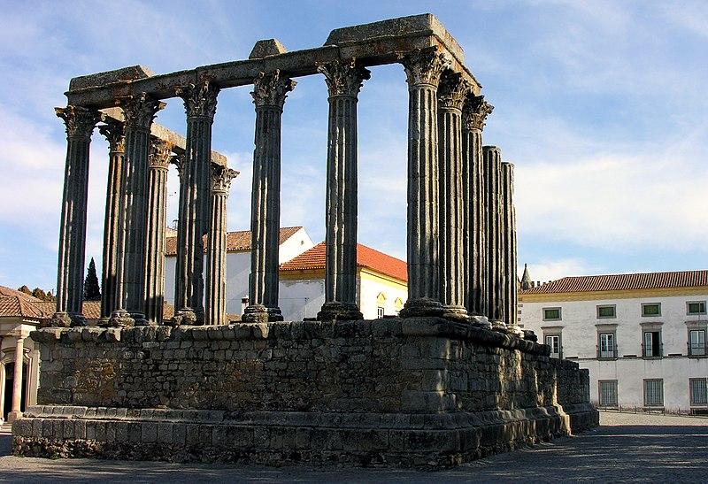 Image:Roman temple, Evora, Alentejo, Portugal, 28 September 2005.jpg