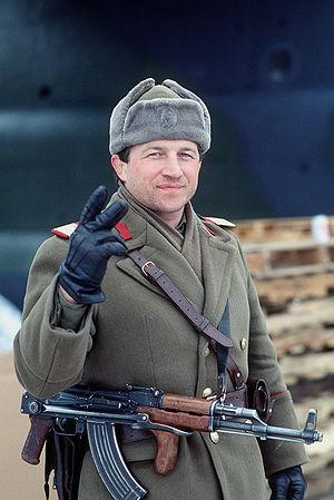 Pistol Mitralieră model 1963/1965 - Image: Romanian AKM Soldier