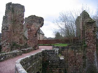 Roslin Castle castle near the village of Roslin in Midlothian, Scotland