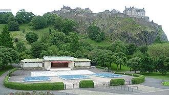 Princes Street Gardens - Image: Ross Bandstand, Princes Street Gardens, Edinburgh