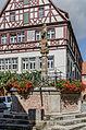Rothenburg ob der Tauber, Kapellenplatz, Brunnen, Ansicht von Süden-20140819-001.jpg