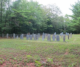 Royalston, Massachusetts - Newton Cemetery, one of several Royalston cemeteries - this one is located near the trailhead to Royalston Falls.