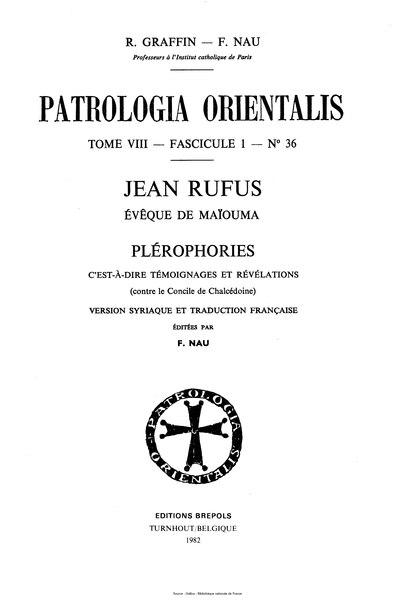 File:Rufus - Patrologia orientalis, tome 8, fascicule 1, n°36 - Plérophories.djvu