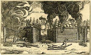Izba - 17th century chimney-less kurnaya izba