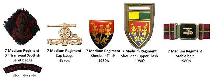 SADF 7 Medium Regiment insignia