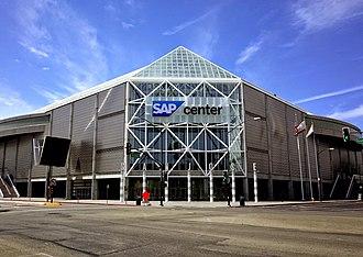 SAP Center - Exterior of venue (c.2014)