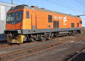 South African Class 14E1 - No. 14-107 at Beaufort West on 1 May 2006