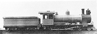 South African type ZC tender - Type ZC tender (5½ LT) on CGR 7th Class of 1902