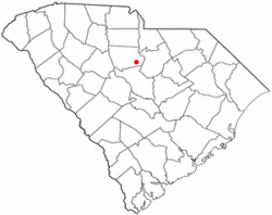 Location of Ridgeway, South Carolina