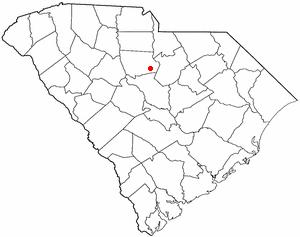 Ridgeway, South Carolina - Image: SC Map doton Ridgeway