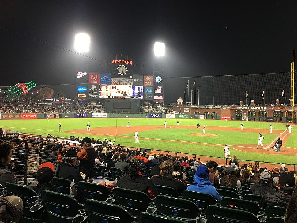 SF Giants Night Game