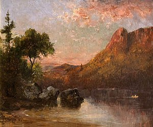Profile Lake - Profile Lake, Evening by Sylvester Phelps Hodgdon