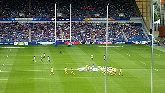 Rugby union in Sri Lanka - Sri Lanka vs Australia playing rugby sevens at the 2014 Commonwealth Games in Glasgow